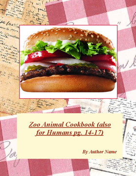 Zoo Animal Cookbook