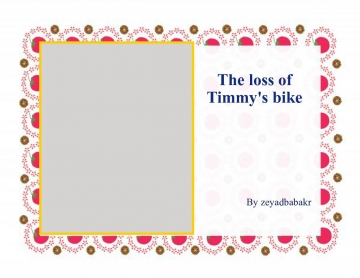 The Loss of Timmy's bike
