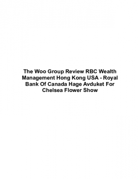 The Woo Group Review RBC Wealth Management Hong Kong USA