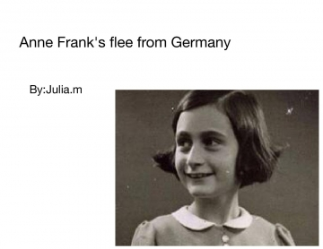 Anne franks flee from Germany