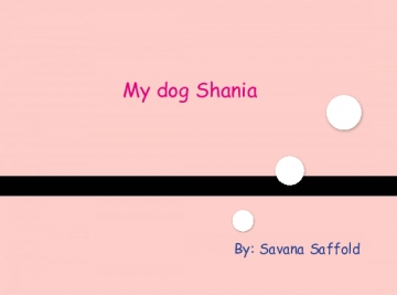 My dog Shania!