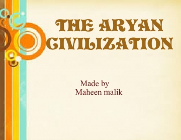 THE ARYAN CIVILIAZATION