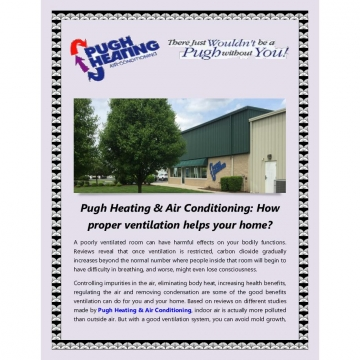 Pugh Heating & Air Conditioning: How proper ventilation helps your home?
