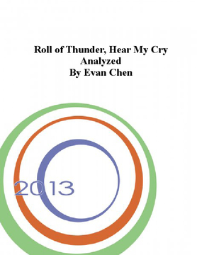Roll of Thunder, Hear My Cry Analyzed by Evan Chen