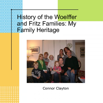 History of the Woelffer and Fritz Families
