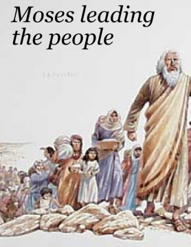 Moses leading people
