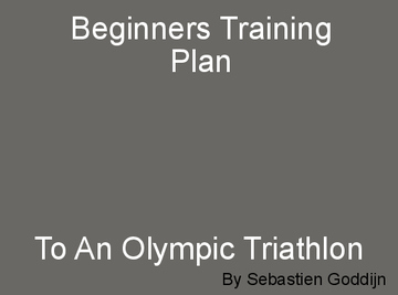 Beginners Triathlon Training Plan