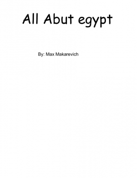 All About Egypt