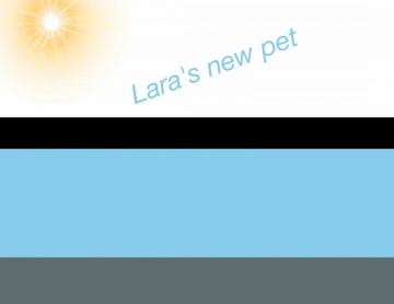 Lara's new pet