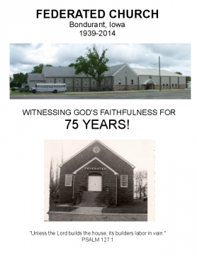 75th Anniversary Federated Church Bondurant
