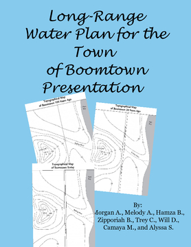 Long-Range Water Plan for Boomtown