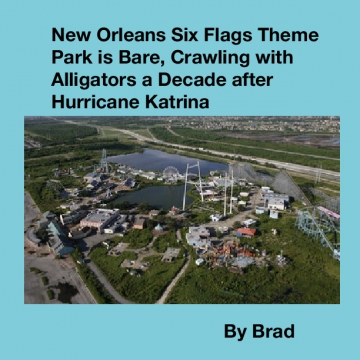 New Orleans Six Flags Theme Park is Bare, Crawling with Alligators a Decade after Hurricane Katrina