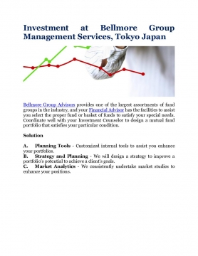 Investment at Bellmore Group Management Services, Tokyo Japan