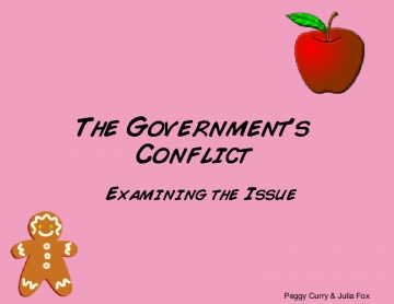 The Governments Conflict
