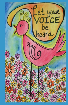 Groovy Gal Art Journal: Let Your Voice Be Heard