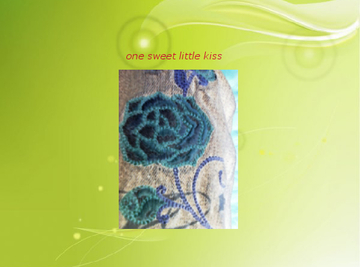 one sweet little kiss