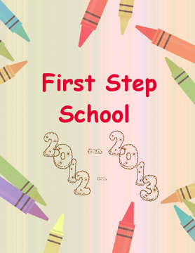 First Step School Yearbook 2012-2013