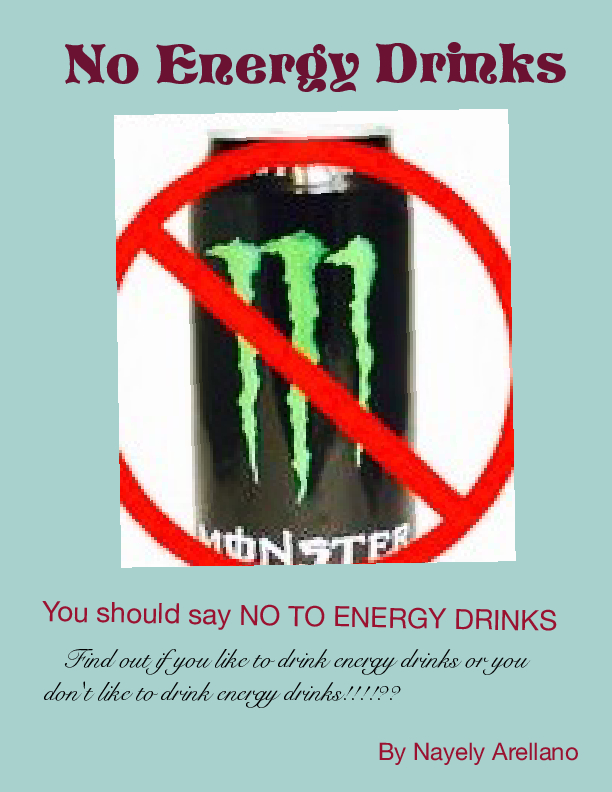 No Energy Drinks Say No To Energy Drink Book 614307