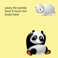 pauly the panda bear & kevin the koala bear