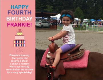 Frankie Turns Four!