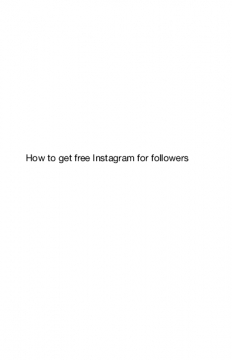 How to get free followers