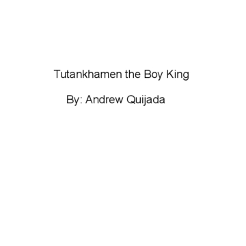Tutankhamen the Boy King