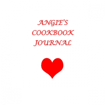 Angie's Cookbook Journal