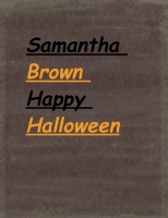 Shamantha Brown Happy Halloween