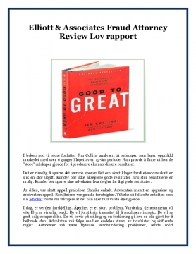 Elliott & Associates Fraud Attorney Review Lov rapport