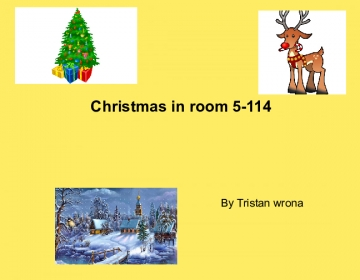 Christmas in room 5-114