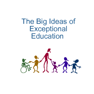The Big Ideas of Exceptional Education