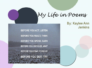 Kaylee's Life in Poems