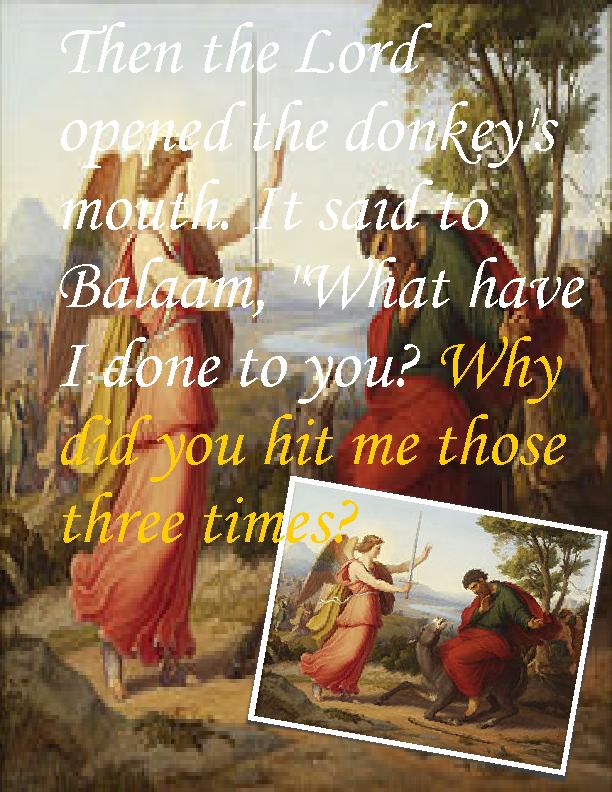 balaam and his talking donkey