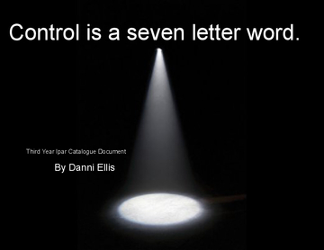Control is a seven letter word.