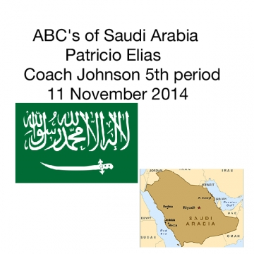 ABC's of Saudi Arabia