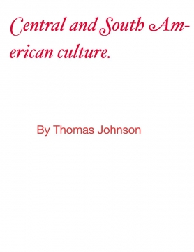 Culture book of South America