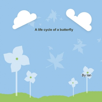 A life cycle of a butterfly