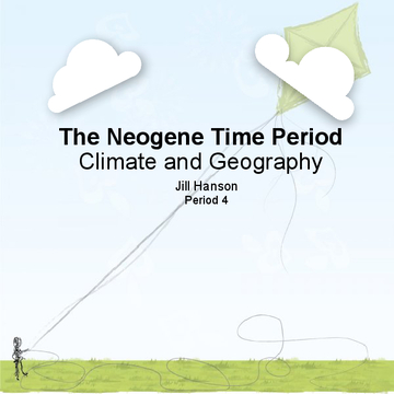 The Neogene Time Period