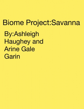 Biome Project:Savanna