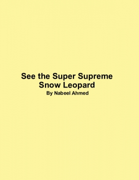 See the Snowy Snow Leopard