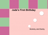 Jade's First Birthday