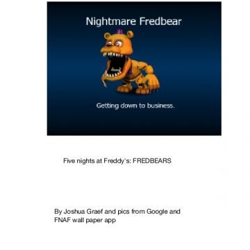 Five nights at Freddy's:FREDBEARS
