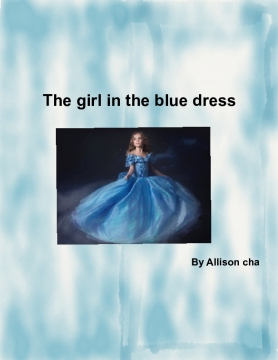 The girl in the blue dress