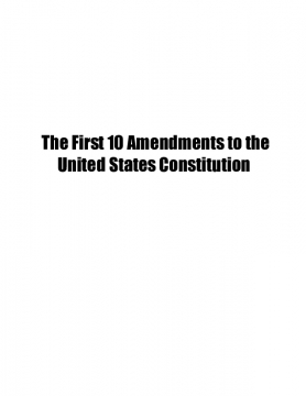 10 Amendments to the United States of America