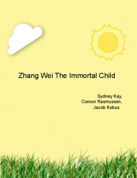 Zhang Wei The Immortal Child