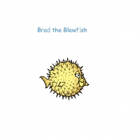 Brad the blowfish