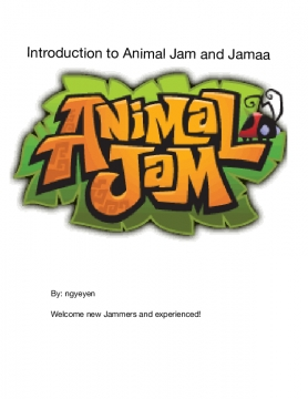 Intro to Animal Jam