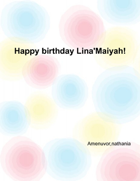 happy birthday lina