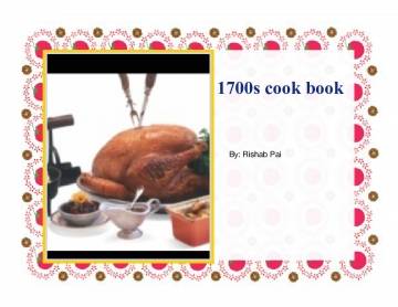 1700s cook book