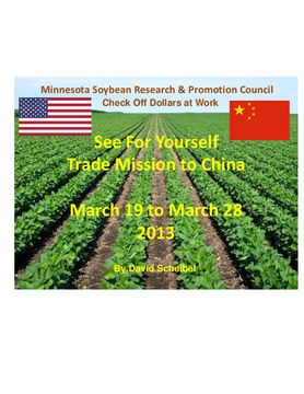 2013 SFY MN Soybean China Trade Mission